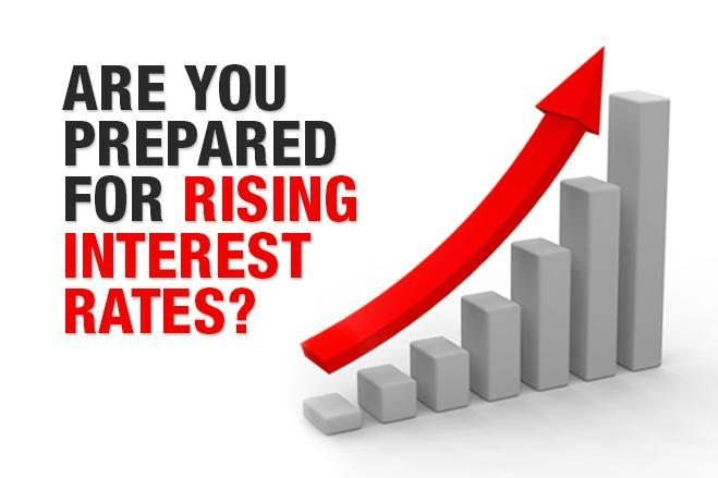 Rising inflation means rising interest rates
